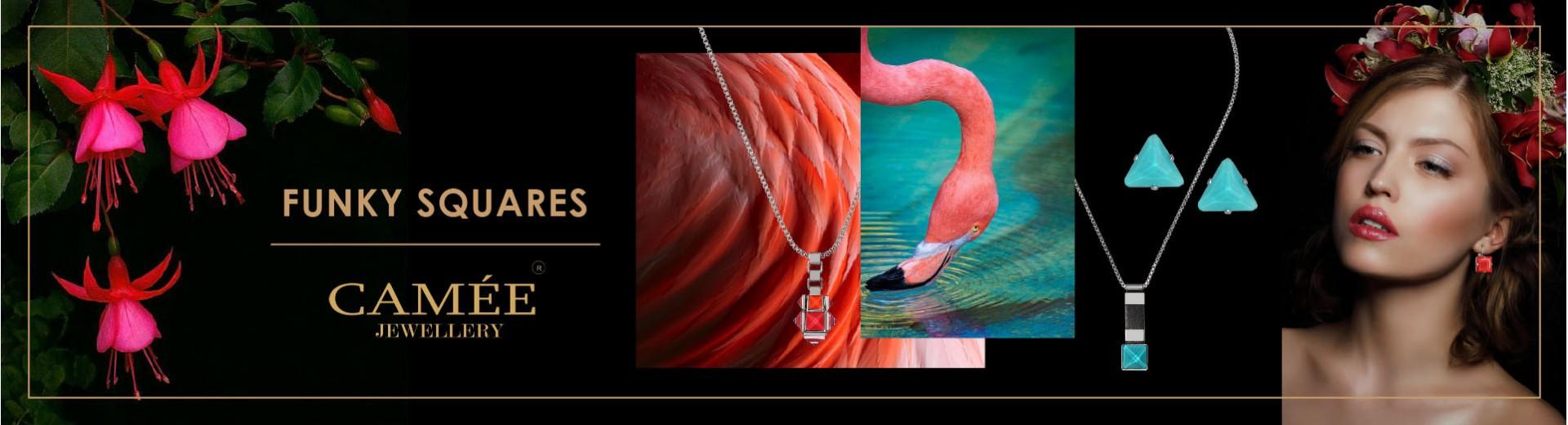 Šperky z kolekce Funky Squares
